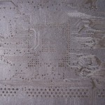 Laser etched mother board