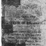 Alien registration booklet - FdR